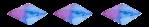 separator crystal blue purple