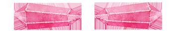 separator pink crystal